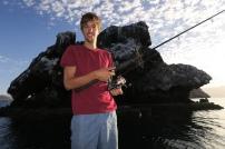 Manuel beim Fischen