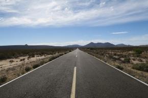 die Strasse MEX1 der Baja California hoch ist über 1500 km lang