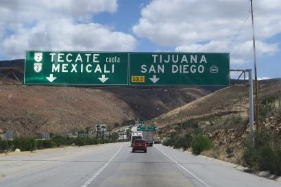 auf nach Tecate um in die USA zu kommen
