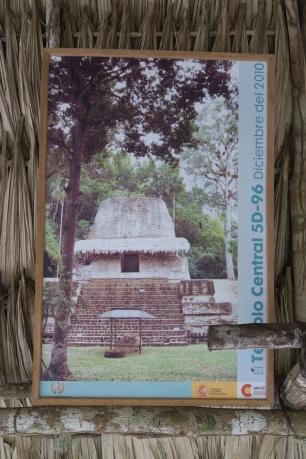 Tempel nach dem Ausgraben