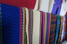 farbige Stoffe, die typisch für Guatemala sind