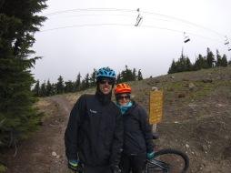 bikem beim Mount Hood, es ist kalt!