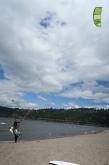 Manu beim Kiten