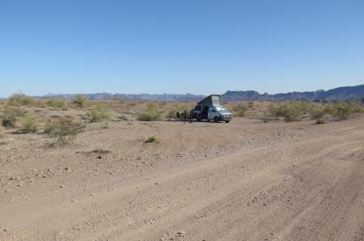"""bereits die 2. Nacht mit Angie verbringen wir """"wild"""" wir campieren out in the desert"""