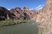 der Colorado River im Canyon unten