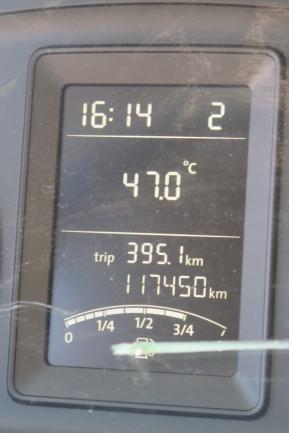 es ist extrem heiss, keiner verlässt das gekühlte Auto freiwillig
