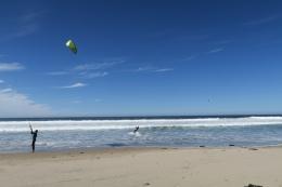 starke Winde, gut zum Kiten für Manu