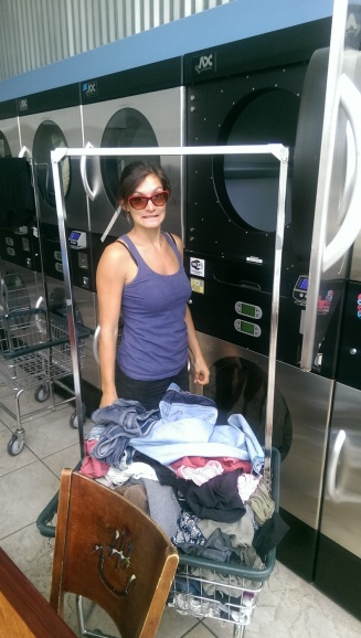 auch wir müssen waschen, der Wäscheberg wird immer grösser!