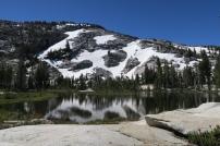 ein Bergsee auf unserer Wanderung