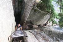 die Wanderung führt über Leitern