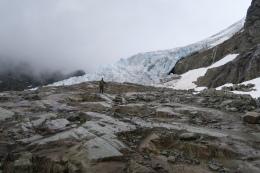 wir wandern direkt zum Gletscher
