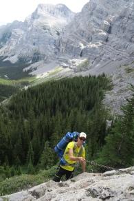 die kurze Kletterpartie
