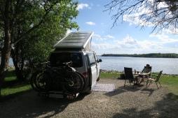 Campingplaz direkt am See