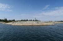 wir segeln mit dem Trimaran im Georgien Bay
