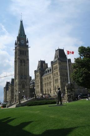 das Regierungsgebäude in Ottawa