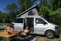 sünnele auf dem Campingplatz