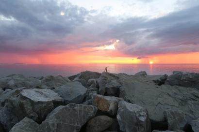 am Sonnenuntergang fotografieren