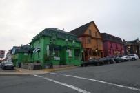 die Häuser von Lunenburg sind farbig