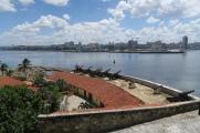 Eine Festung mit Blick auf Havanna Vieja/ die Altstadt
