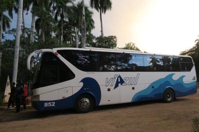 Mit dem Bus fahren wir von Havanna nach Santiago de Cuba