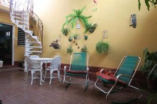 Der schöne Innenhof in Trinidad